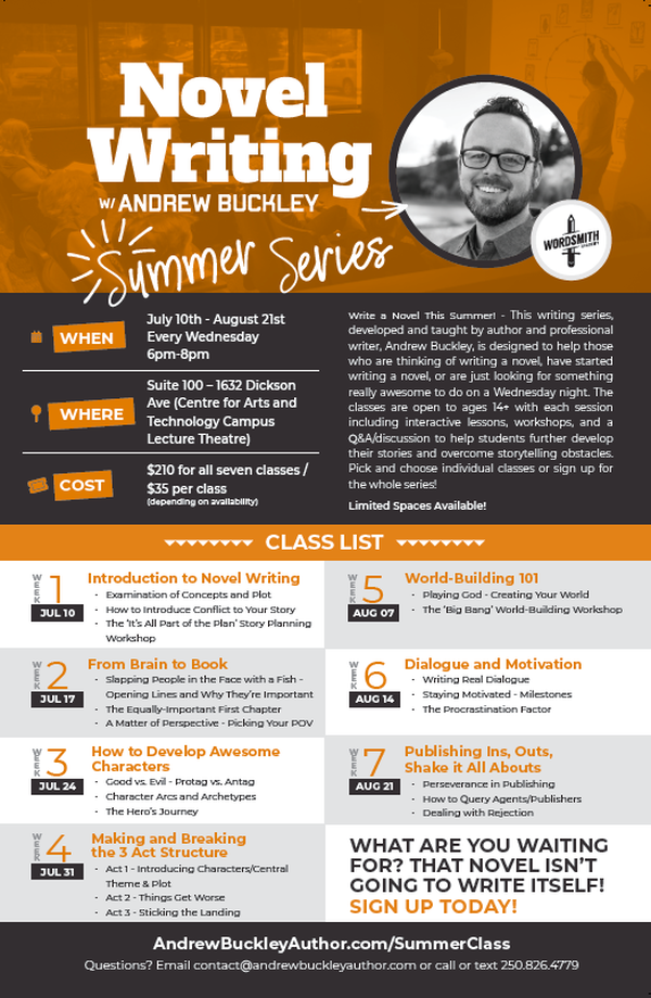 Novel Writing w/ Andrew Buckley - Summer Series 2019